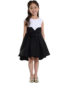 Pippa & Julie - Girls' Sequin Contrast Bow Dress - Little Kid