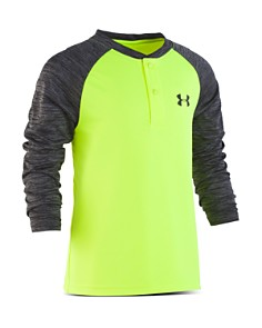 Under Armour - Boys' Raglan Henley Shirt - Little Kid