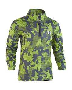 Under Armour - Boys' Camo-Print Quarter-Zip Shirt - Little Kid