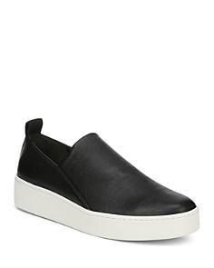 Vince - Women's Saxon Leather Platform Sneakers