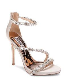 Badgley Mischka - Women's Quest Embellished Satin High-Heel Sandals