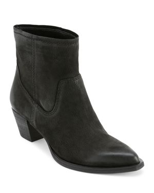 DOLCE VITA Women'S Kodi Pointed Toe Booties in Black Nubuck Leather