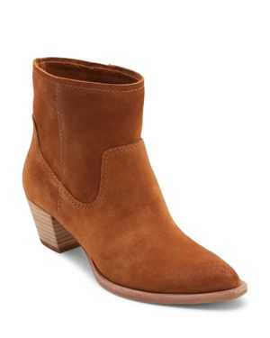 DOLCE VITA Women'S Kodi Pointed Toe Booties in Saddle Suede
