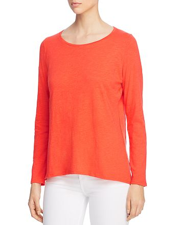 Eileen Fisher - Organic-Cotton Long-Sleeve Tee
