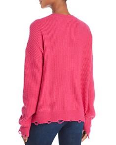 Splendid - Ballet-Neck Distressed Sweater