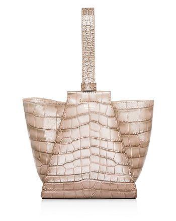 Max Mara - Croc-Embossed Leather Wristlet