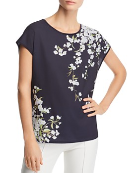 Ted Baker - Meahh Graceful Woven-Front Tee - 100% Exclusive