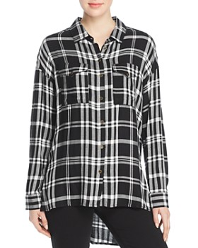 Velvet Heart - Wilta Plaid Tunic Shirt