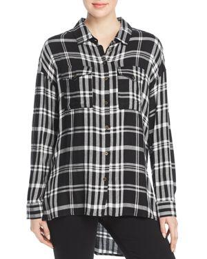 VELVET HEART Wilta Plaid Tunic Shirt in Black Plaid
