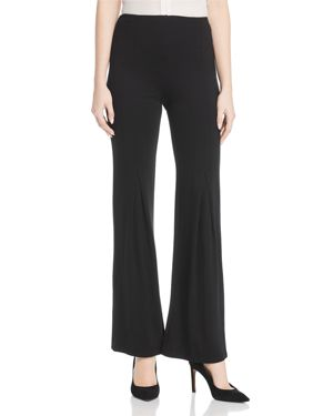 LYSSÉ Flared-Leg Pants in Black