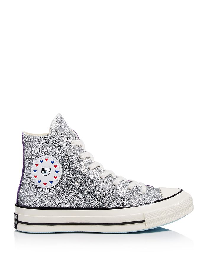 Converse - x Chiara Ferragni Women's Chuck Taylor Tillands Glitter High Top  Sneakers