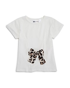 Mini Series - Girls' Leopard-Print Bow Tee, Little Kid - 100% Exclusive