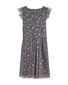 BCBGirls - Girls' Glitter Star Print Mesh Dress - Little Kid