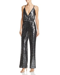 Laundry by Shelli Segal - Plunging Sequined Jumpsuit
