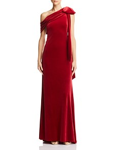Tadashi Shoji - One-Shoulder Velvet Gown