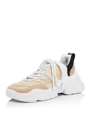 Schutz Women's Jackye Mixed Media Lace Up Sneakers