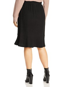 B Collection by Bobeau Curvy - Renata Drawstring Flutter Skirt