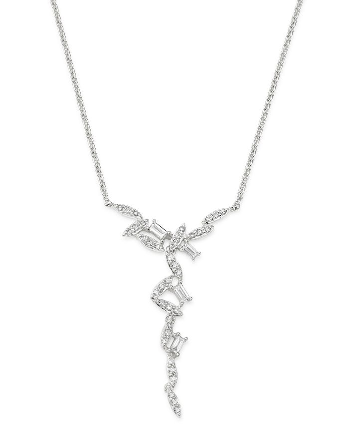 Bloomingdale's - Diamond Scatter Pendant Necklace in 14K White Gold, 0.35 ct. t.w. - 100% Exclusive