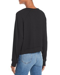 Terez - Sequined Floral Sweatshirt