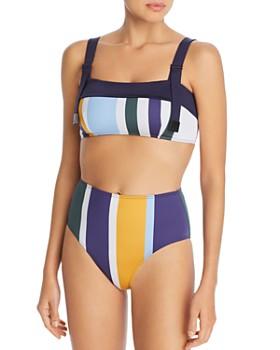 con L'ange Mei de Ariana y Lynn de alta cintura utilitario múltiples bikini rayas de Top tnxqTSwgp8