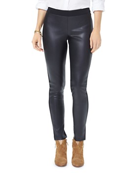 NYDJ - Faux Leather Front Leggings