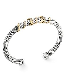David Yurman - Helena Center Station Bracelet with 18K Gold & Diamonds