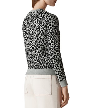 Whistles - Flocked Cheetah-Print Sweater
