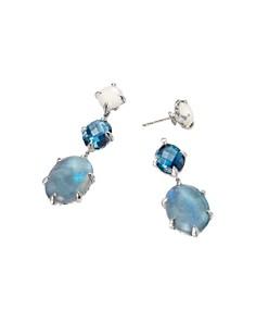 David Yurman - Chatelaine Drop Earrings with Labradorite, Hampton Blue Topaz & White Moonstone