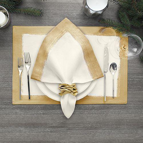 Villeroy & Boch - Metallic Brushstroke Table Linen Collection
