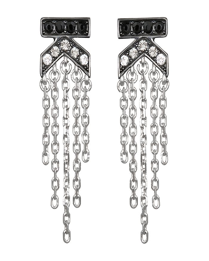 KARL LAGERFELD Paris - K Fringe Crystal Earrings