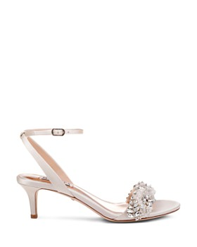 Badgley Mischka - Women's Fiona Embellished Kitten Heel Sandals