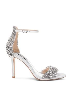 Badgley Mischka - Women's Fabiana Crystal Embellished High-Heel Sandals