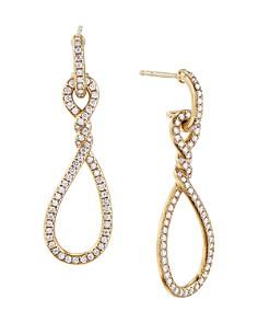 David Yurman - Continuance® Full Pavé Small Drop Earrings in 18K Yellow Gold