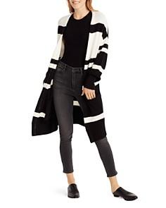 Ella Moss - Kimberly Color-Blocked Long-Line Cardigan