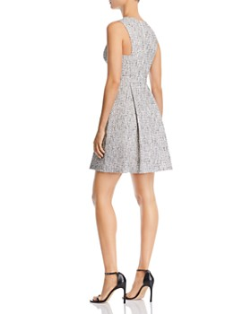 AQUA - Sleeveless Tweed Fit-and-Flare Dress - 100% Exclusive