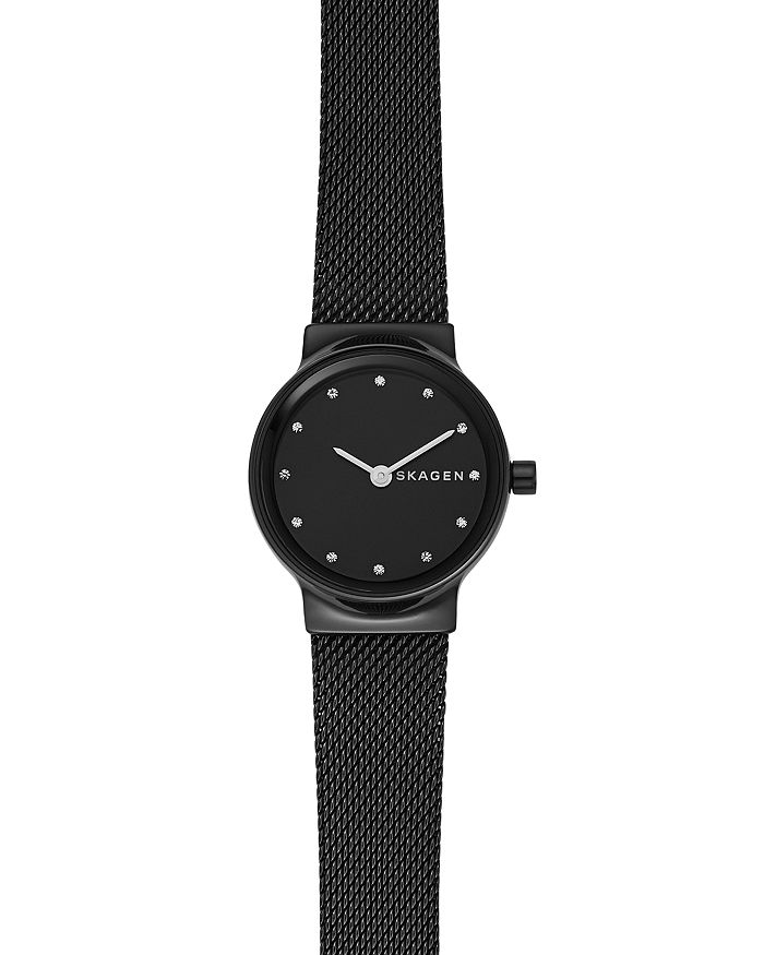 Skagen FREJA BLACK MESH BRACELET WATCH, 26MM
