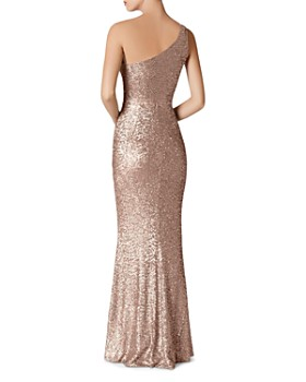 Dress the Population - Sequined One-Shoulder Gown
