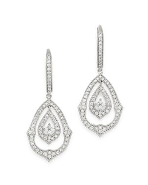 Bloomingdale's Diamond Vintage Look Drop Earrings in 14K White Gold, 0.75 ct. t.w. - 100% Exclusive