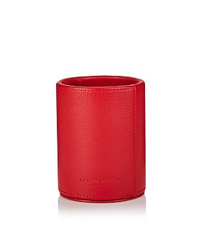 Campo Marzio - Round Pebbled Faux Leather Pen Holder