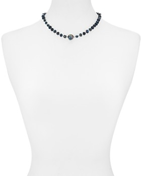 """Chan Luu - Beaded Cultured Freshwater Pearl Necklace in 18K Gold-Plated Sterling Silver or Sterling Silver, 16"""""""