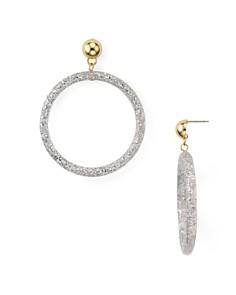 Rebecca Minkoff - Glitter Resin Frontal Hoop Earrings