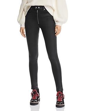 rag & bone/Jean Baxter High-Rise Skinny Jeans in Coated Ashes