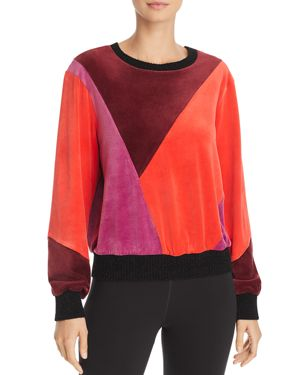 Splendid x Margherita Velluto Color-Block Velour Sweatshirt