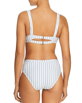 Splendid - Stormy Story Bralette Bikini Top & Stormy Story High-Waist Bikini Bottom