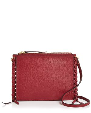 ANNABEL INGALL Everly Pebbled Leather Crossbody in Barberry/Gold