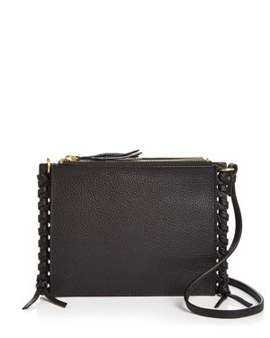 ANNABEL INGALL Everly Pebbled Leather Crossbody in Black/Gold