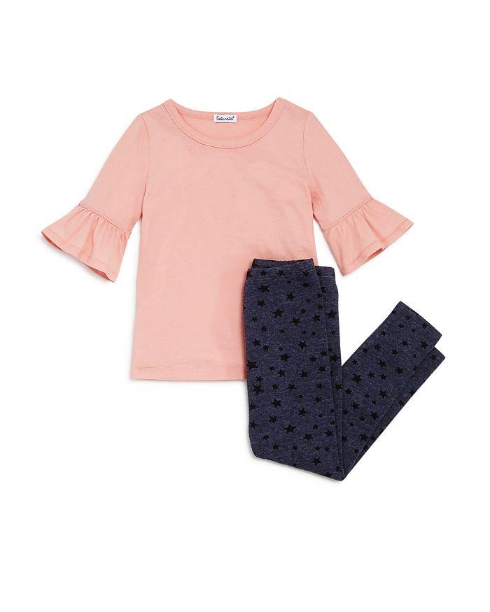 Splendid - Girls' Bell-Sleeve Tee & Star-Print Leggings Set - Little Kid