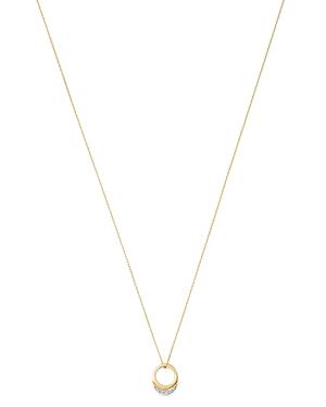 Adina Reyter 14K Yellow Gold Tiny Pave Diamond Petal Necklace, 16
