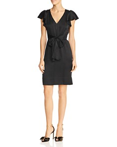 Rebecca Taylor - Hammered Silk Flutter Sleeve Dress