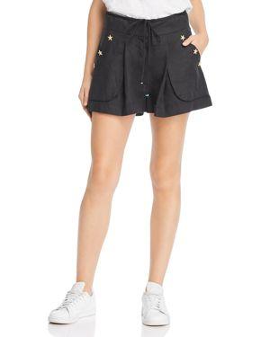 A MERE CO. Anna High-Waist Shorts in Black